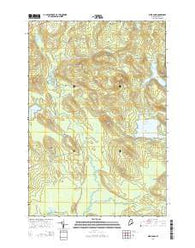 Weir Pond Maine Current topographic map, 1:24000 scale, 7.5 X 7.5 Minute, Year 2014