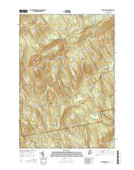 Wellington Maine Current topographic map, 1:24000 scale, 7.5 X 7.5 Minute, Year 2014