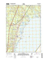 Wells Maine Current topographic map, 1:24000 scale, 7.5 X 7.5 Minute, Year 2014