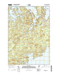 West Lubec Maine Current topographic map, 1:24000 scale, 7.5 X 7.5 Minute, Year 2014