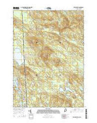 West Newfield Maine Current topographic map, 1:24000 scale, 7.5 X 7.5 Minute, Year 2014