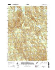 West Sumner Maine Current topographic map, 1:24000 scale, 7.5 X 7.5 Minute, Year 2014