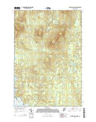 Whetstone Mountain Maine Current topographic map, 1:24000 scale, 7.5 X 7.5 Minute, Year 2014