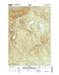 Whetstone Pond Maine Current topographic map, 1:24000 scale, 7.5 X 7.5 Minute, Year 2014