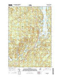 Whiting Maine Current topographic map, 1:24000 scale, 7.5 X 7.5 Minute, Year 2014
