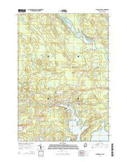 Whitneyville Maine Current topographic map, 1:24000 scale, 7.5 X 7.5 Minute, Year 2014 from Maine Maps Store