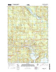 Whitneyville Maine Current topographic map, 1:24000 scale, 7.5 X 7.5 Minute, Year 2014