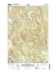Wilton Maine Current topographic map, 1:24000 scale, 7.5 X 7.5 Minute, Year 2014