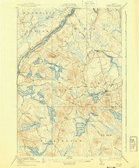 Winn Maine Historical topographic map, 1:62500 scale, 15 X 15 Minute, Year 1920