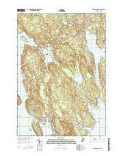 Winter Harbor Maine Current topographic map, 1:24000 scale, 7.5 X 7.5 Minute, Year 2014 from Maine Maps Store