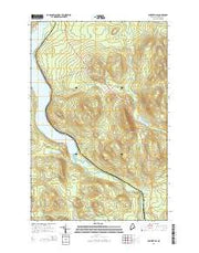 Winterville Maine Current topographic map, 1:24000 scale, 7.5 X 7.5 Minute, Year 2014 from Maine Maps Store