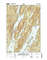 Winthrop Maine Current topographic map, 1:24000 scale, 7.5 X 7.5 Minute, Year 2014