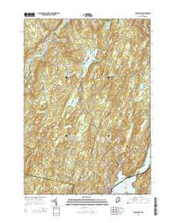 Wiscasset Maine Current topographic map, 1:24000 scale, 7.5 X 7.5 Minute, Year 2014