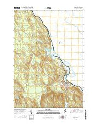 Woodland Maine Current topographic map, 1:24000 scale, 7.5 X 7.5 Minute, Year 2014