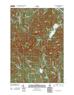 Worthley Pond Maine Historical topographic map, 1:24000 scale, 7.5 X 7.5 Minute, Year 2011
