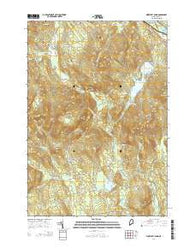 Worthley Pond Maine Current topographic map, 1:24000 scale, 7.5 X 7.5 Minute, Year 2014