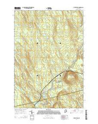 Wytopitlock Maine Current topographic map, 1:24000 scale, 7.5 X 7.5 Minute, Year 2014