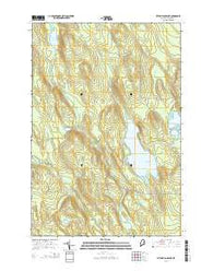 Wytopitlock Lake Maine Current topographic map, 1:24000 scale, 7.5 X 7.5 Minute, Year 2014