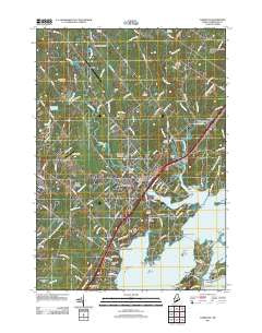 Yarmouth Maine Historical topographic map, 1:24000 scale, 7.5 X 7.5 Minute, Year 2011