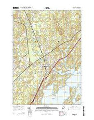 Yarmouth Maine Current topographic map, 1:24000 scale, 7.5 X 7.5 Minute, Year 2014