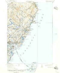 York Maine Historical topographic map, 1:62500 scale, 15 X 15 Minute, Year 1920