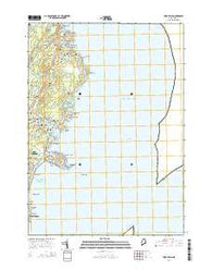 York Beach Maine Current topographic map, 1:24000 scale, 7.5 X 7.5 Minute, Year 2014