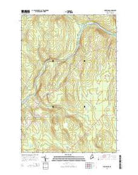 York Ridge Maine Current topographic map, 1:24000 scale, 7.5 X 7.5 Minute, Year 2014