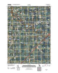 Adair Michigan Historical topographic map, 1:24000 scale, 7.5 X 7.5 Minute, Year 2011