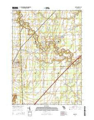 Adair Michigan Historical topographic map, 1:24000 scale, 7.5 X 7.5 Minute, Year 2014