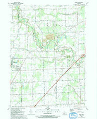 Adair Michigan Historical topographic map, 1:24000 scale, 7.5 X 7.5 Minute, Year 1991