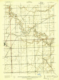 Adair Michigan Historical topographic map, 1:24000 scale, 7.5 X 7.5 Minute, Year 1939