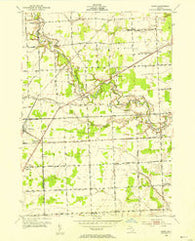 Adair Michigan Historical topographic map, 1:24000 scale, 7.5 X 7.5 Minute, Year 1952