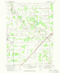 Adair Michigan Historical topographic map, 1:24000 scale, 7.5 X 7.5 Minute, Year 1968