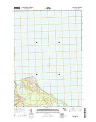 Adams Point Michigan Historical topographic map, 1:24000 scale, 7.5 X 7.5 Minute, Year 2014