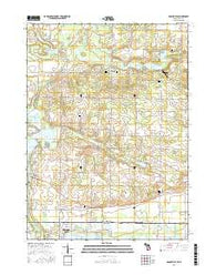 Adamsville Michigan Current topographic map, 1:24000 scale, 7.5 X 7.5 Minute, Year 2016