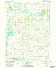 Adamsville Michigan Historical topographic map, 1:24000 scale, 7.5 X 7.5 Minute, Year 1981