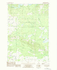 Addis Creek Michigan Historical topographic map, 1:24000 scale, 7.5 X 7.5 Minute, Year 1983
