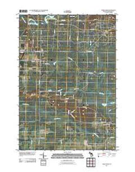 Addis Creek Michigan Historical topographic map, 1:24000 scale, 7.5 X 7.5 Minute, Year 2011