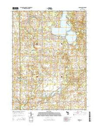 Addison Michigan Historical topographic map, 1:24000 scale, 7.5 X 7.5 Minute, Year 2014
