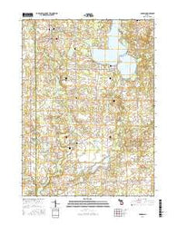 Addison Michigan Current topographic map, 1:24000 scale, 7.5 X 7.5 Minute, Year 2016