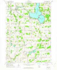Addison Michigan Historical topographic map, 1:24000 scale, 7.5 X 7.5 Minute, Year 1962