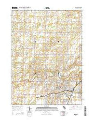 Adrian Michigan Historical topographic map, 1:24000 scale, 7.5 X 7.5 Minute, Year 2014
