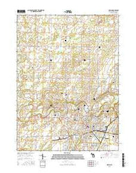 Adrian Michigan Current topographic map, 1:24000 scale, 7.5 X 7.5 Minute, Year 2016