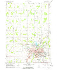 Adrian Michigan Historical topographic map, 1:24000 scale, 7.5 X 7.5 Minute, Year 1962