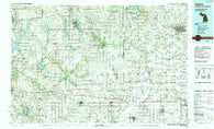 Adrian Michigan Historical topographic map, 1:100000 scale, 30 X 60 Minute, Year 1990