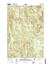 Afton Michigan Current topographic map, 1:24000 scale, 7.5 X 7.5 Minute, Year 2017 from Michigan Maps Store