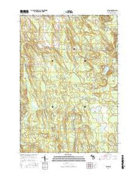 Afton Michigan Current topographic map, 1:24000 scale, 7.5 X 7.5 Minute, Year 2017