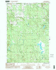 Afton Michigan Historical topographic map, 1:24000 scale, 7.5 X 7.5 Minute, Year 1986