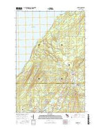 Ahmeek Michigan Current topographic map, 1:24000 scale, 7.5 X 7.5 Minute, Year 2017 from Michigan Map Store