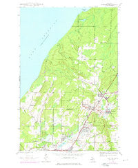 Ahmeek Michigan Historical topographic map, 1:24000 scale, 7.5 X 7.5 Minute, Year 1946
